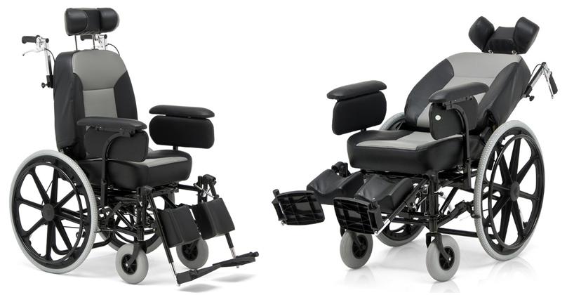 Кресло-коляска с откидной спинкой (реклайнер)